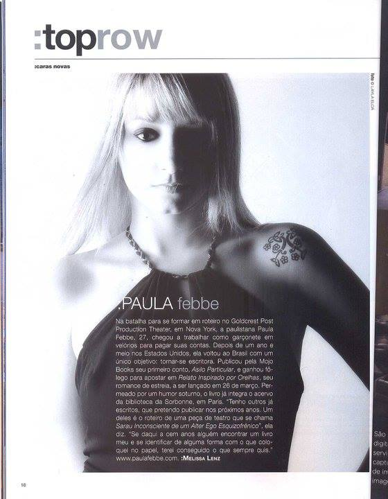 Paula Febbe na Revista Top Magazine