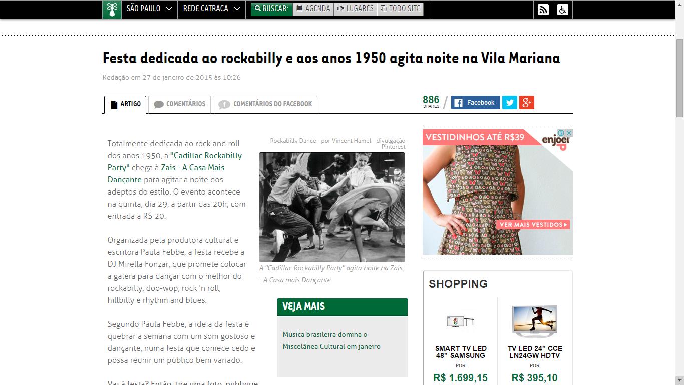 Festa dedicada ao rockabilly e aos anos 1950 agita noite na Vila Mariana